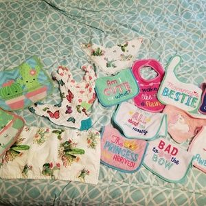 15 bibs 1 burp cloth